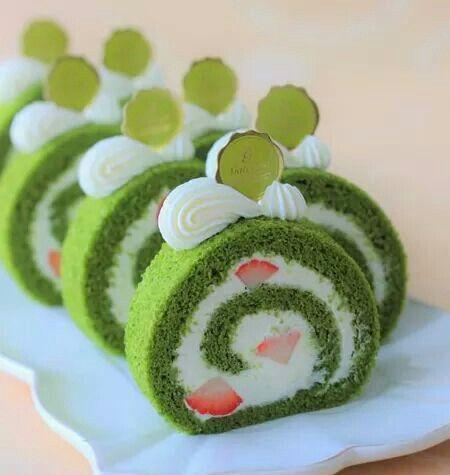 Green Tea Cake Roll