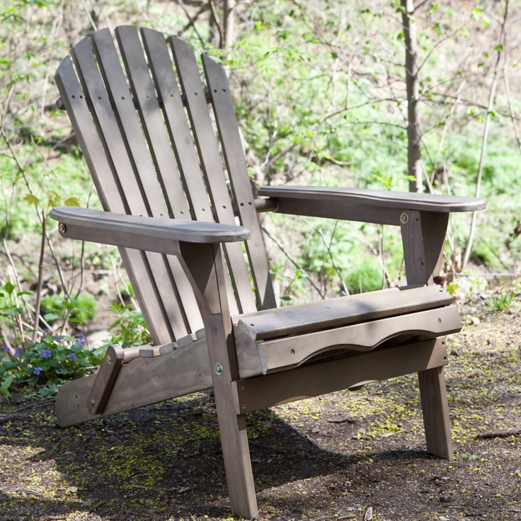 Big Daddy Adirondack Chair With Pull Out Ottoman   Antique Grey   Adirondack  Chairs At Adirondack Chairs.