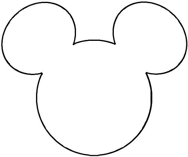 1000 ideas about mickey mouse head on pinterest iron on for Mickey mouse head shape template