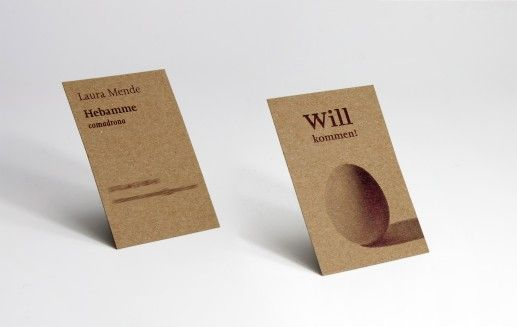 Visitenkarte aus kraftkarton hebamme textagentur for Visitenkarten ideen