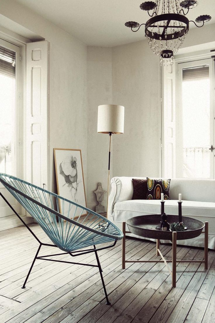 From my living room greenpoint works acapulco chair in leather meets - We Love The Acapulco Chair See More At Http Www