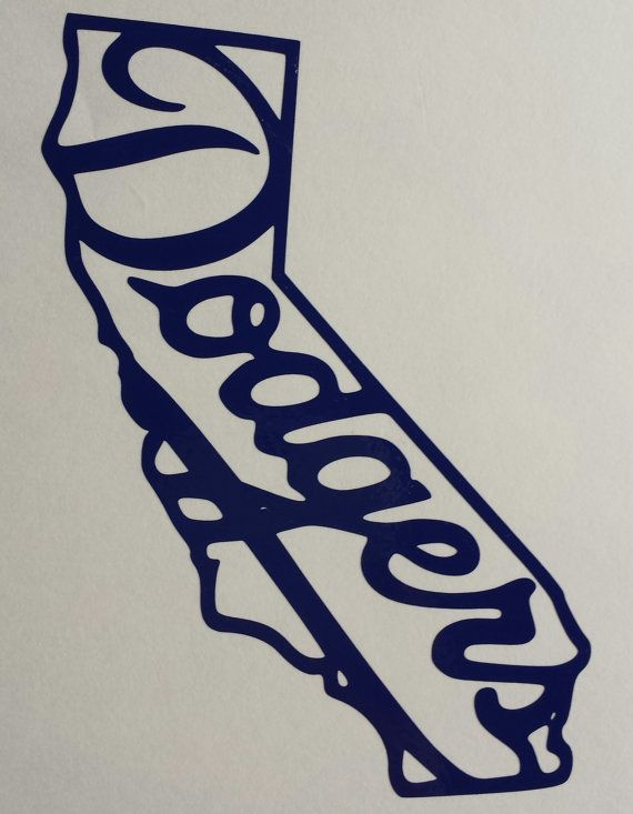 La dodgers cali shaped vinyl decal by reallifesims on etsy 5 00