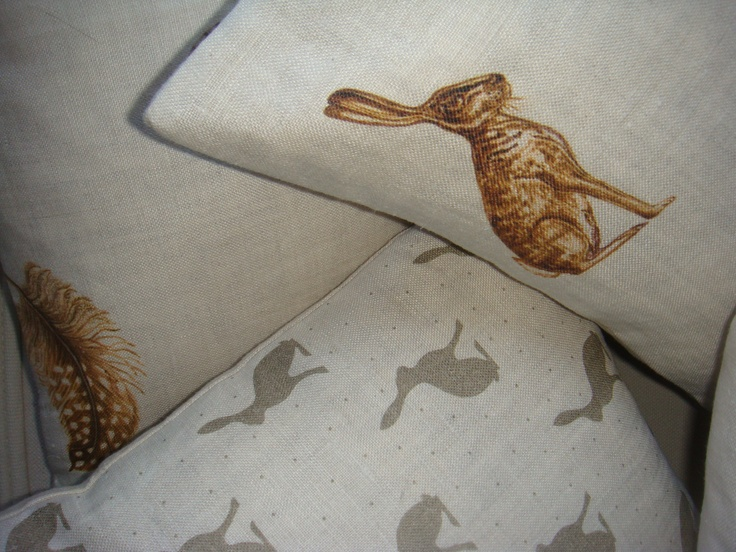 mini hare, feather and egg,