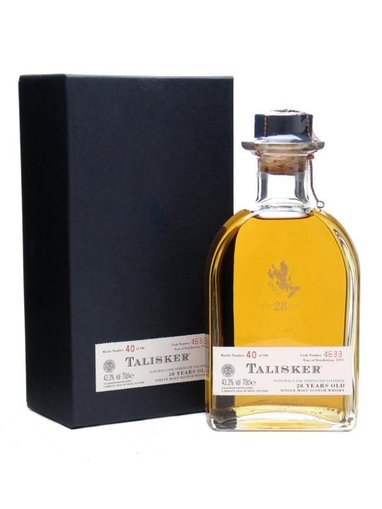 Talisker 1973, 28 Year Old. Only 100 bottles released, yielded from what is claimed to have been the oldest cask at the distillery. £3,500.00