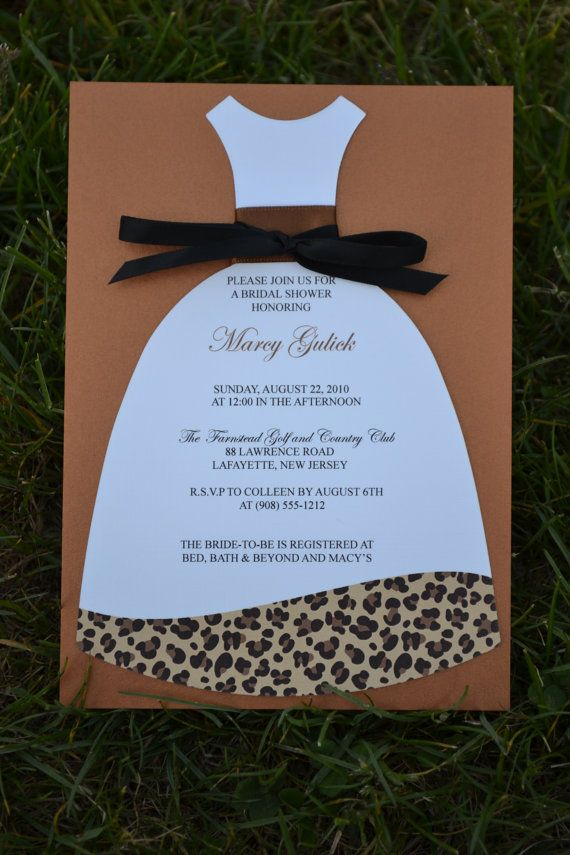 inexpensive wedding shower invitations%0A Leopard Print Bridal Shower Invitation   New Print