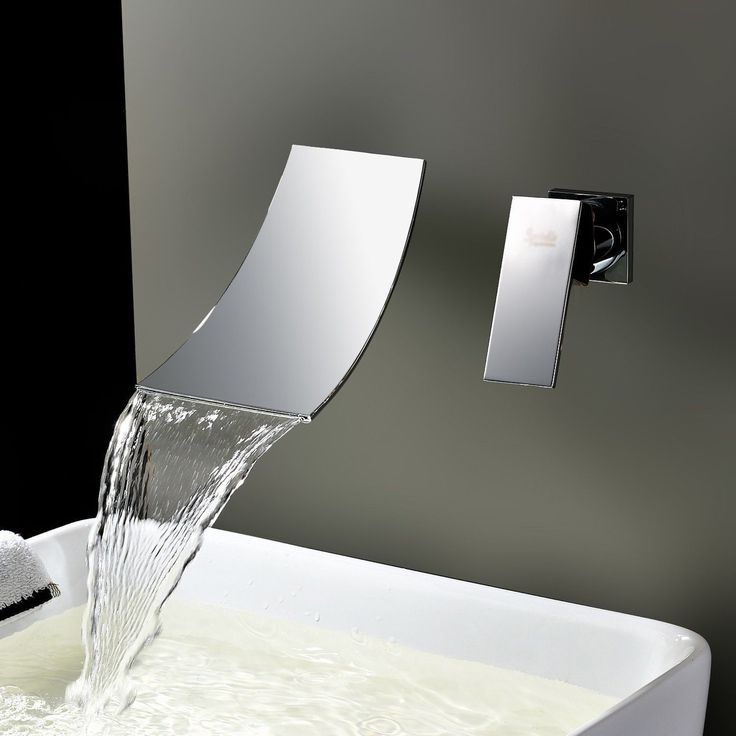 Elevate the style of your bathroom with this elegant wall mount waterfall tub faucet. The waterfall faucet transforms your bathroom into an enchanting sanctuary for soothing relaxation.