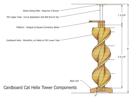 Kit available to assemble this BEAUTIFUL cat spiral staircase! #cats #CatStairs #CatClimb