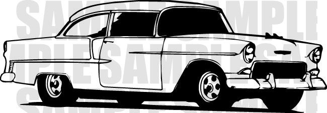 55 chevy clip art | 55 Chevy | Projects to Try | Class ...
