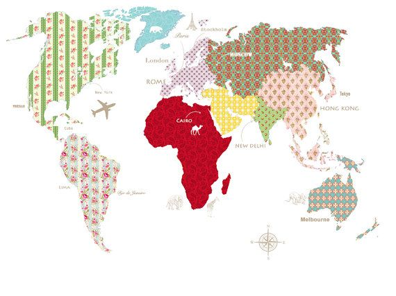 World Map Mural / Interior Design  We offer two sizes width 200x height 150cm or width 320x height 240cm.  If you need other custom size please contact us for a free quote. We can make the wallpapers to fit exact dimensions of your walls just give us the right width and height.  All orders are custom made so cannot be returned or refunded unless there is some physical fault. Before printing we will send you a pre-print sample so you can verify quality of the image.   In special cases we ...