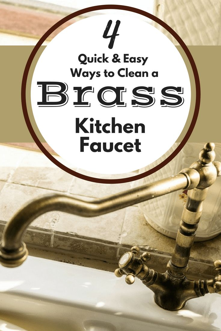 how to clean limescale from brass taps