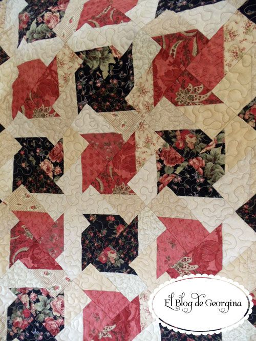 Love this quilt block ... must try it.  If you link thru to the site, there is a photo showing the block structure quite clearly.: Easy Pinwheel Quilt, Fat Pinwheels, Button, Quilt Block, Floral Pinwheels