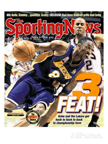 Los Angeles Lakers' Kobe Bryant - NBA Champions - June 24, 2002 Posters at AllPosters.com