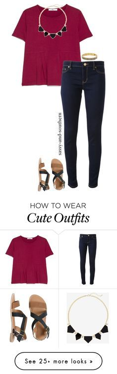 """""""cute school outfit"""" by sassy-and-southern on Polyvore featuring MANGO, Express, Michael Kors, IPANEMA, Kate Spade and sassysouthernfall"""