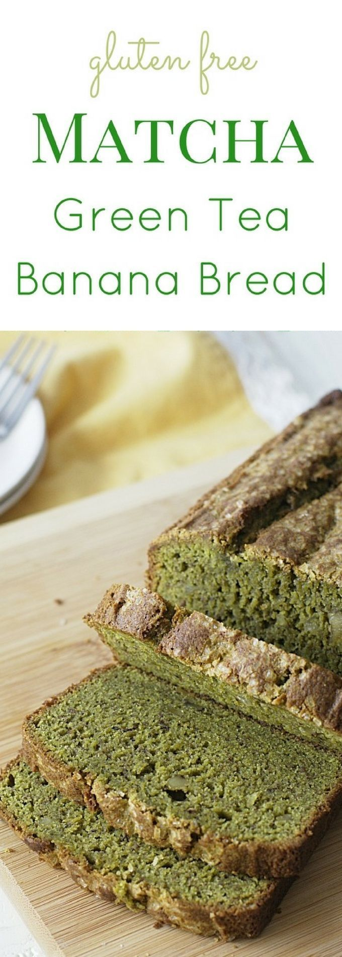 Grab ripe bananas and get ready to make this delicious gluten free matcha green tea banana bread recipe. Recipe at www.fearlessdinin... via /fearlessdining/