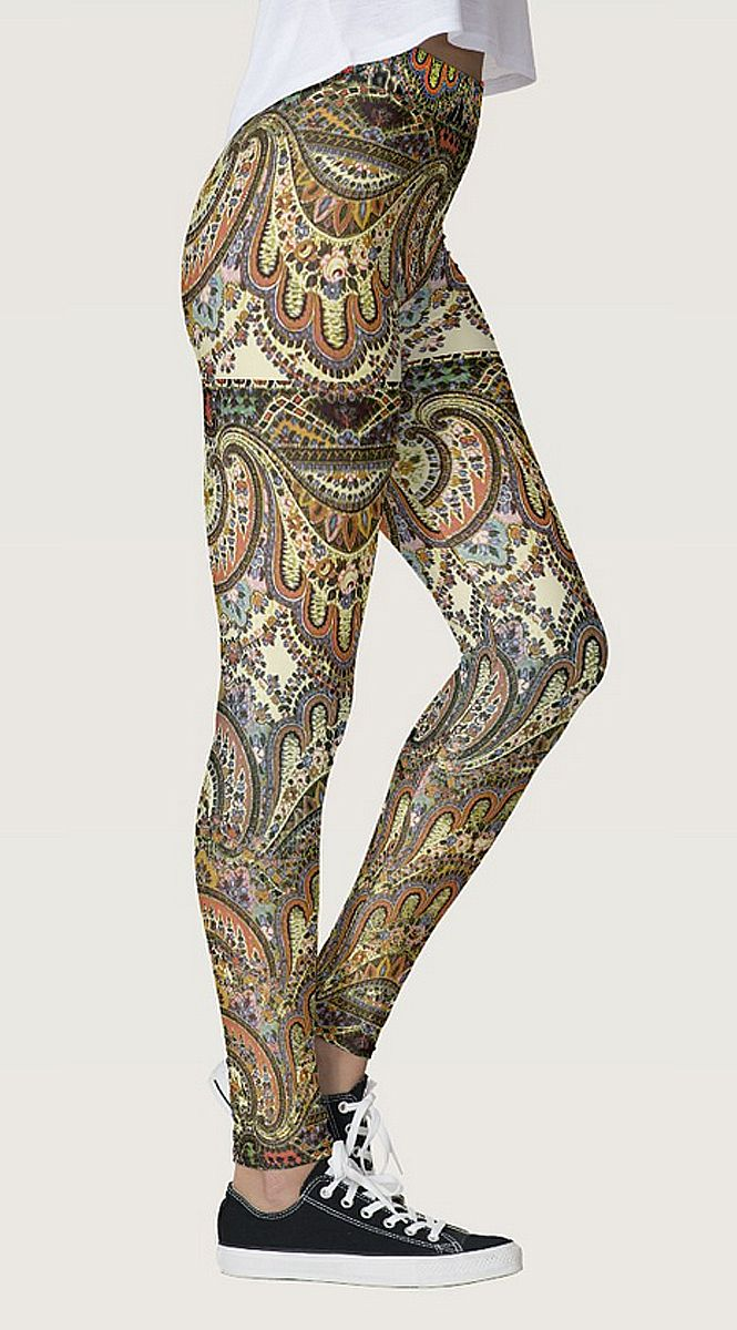 Boho Caravan Antique Customizable Leggings by NDGRags on Zazzle. Choose your own color. Lovely.