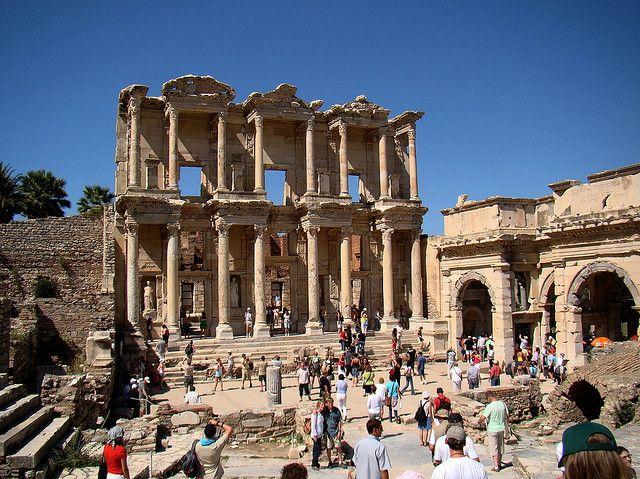 Library of Celsus, Ephesus, Turkey. by Tanya.K., via Flickr