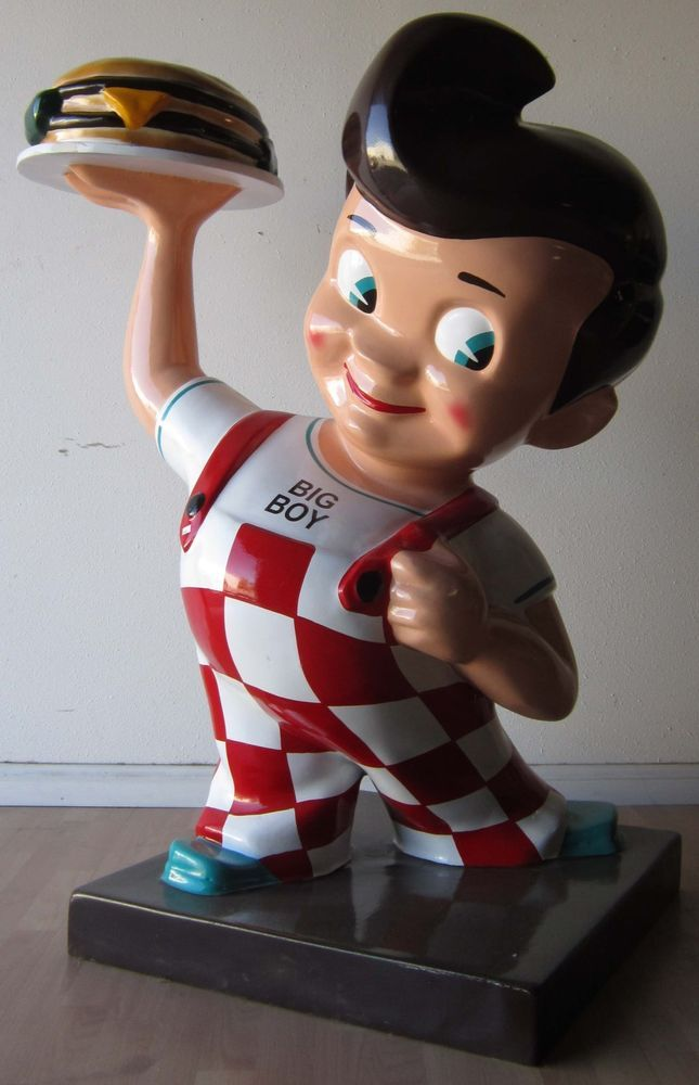Bob's Big Boy Restaurant Advertising Fiberglass Statue (video) #BigBoy