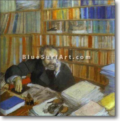 Portrait of Edmond Duranty - £124.99 : Canvas Art, Oil Painting Reproduction, Art Commission, Pop Art, Canvas Painting