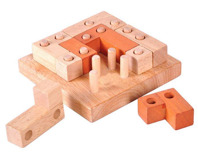 Clásico Mente Rompecabezas 2D 3D Rompecabezas De Madera IQ Puzzle Juego Juguetes Educativos para Adultos Niños en Rompecabezas de Juguetes y aficiones en AliExpress.com | Alibaba Group
