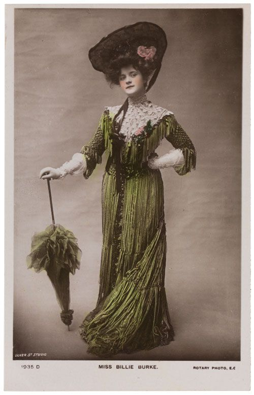 Postcard of Billie Burke, ca. 1907, published by Dover Street Studio  Private collection. Photographed by Bruce White.