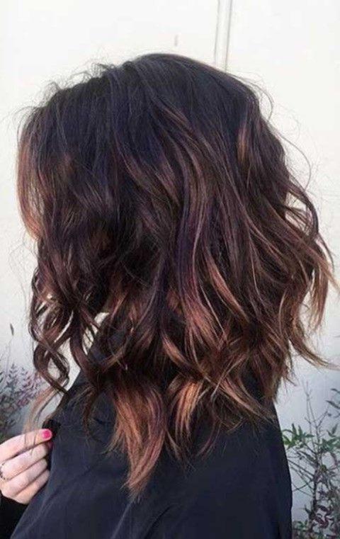 Frisuren Ideen Frisuren Graues Ombre Haar Lob Frisur