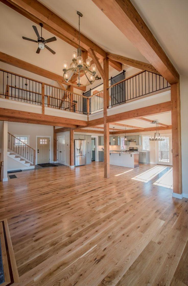 The Overlook Entry Barn homes floor plans Yankee barn homes