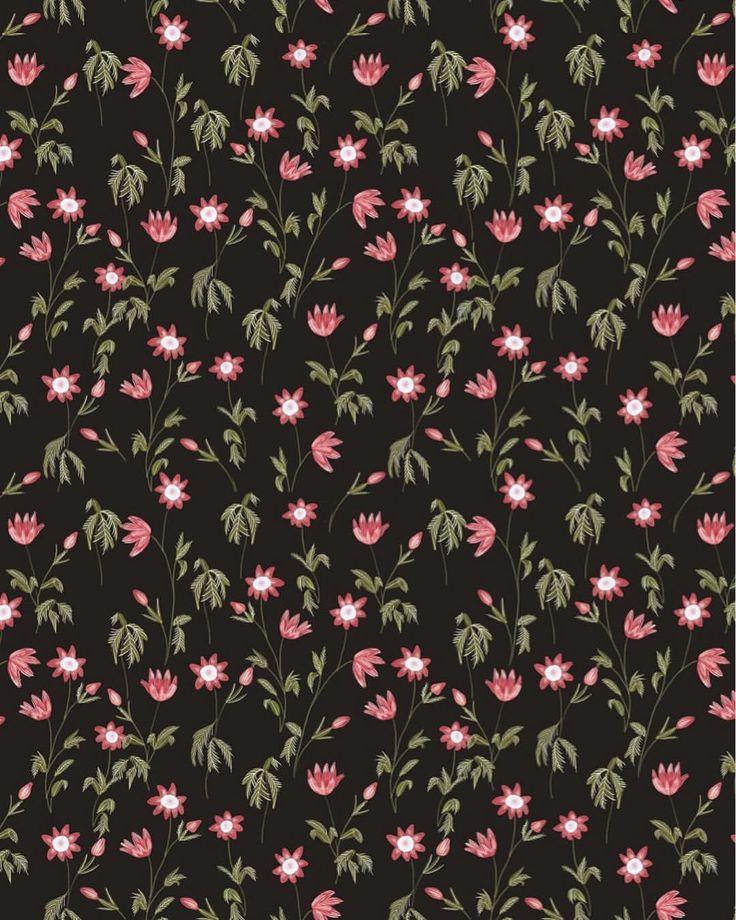 Dark botanical pattern by chotnelle