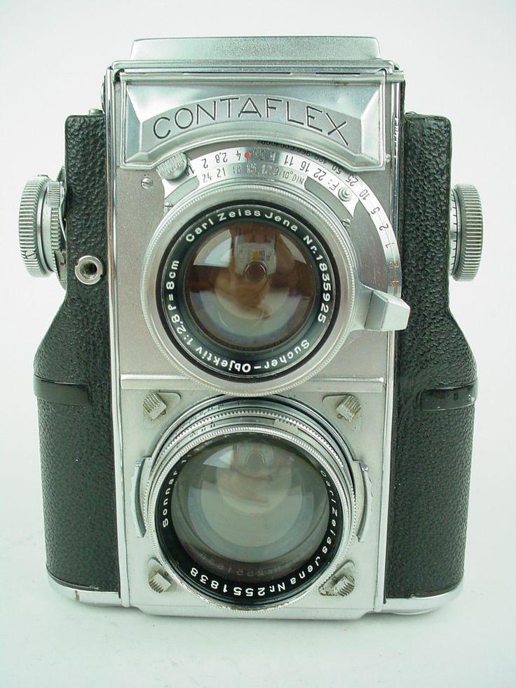 Zeiss Ikon Contaflex TLR Vintage 35mm Film Camera w Sonnar 5cm F 1 5 Very RARE | eBay