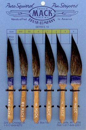 Mack Series 10 Pinstriping Brushes - The Original Pinstriping Brush