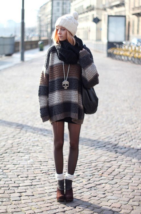 Grunge winter outfit