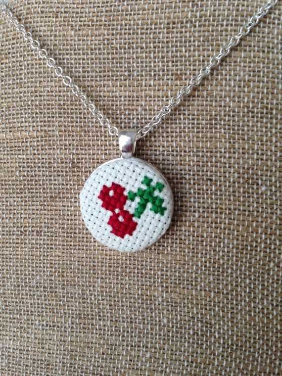 Cherry+Cross+Stitch+Embroidered+Pendant+by+TurnerClassicCrafts,+$12.50