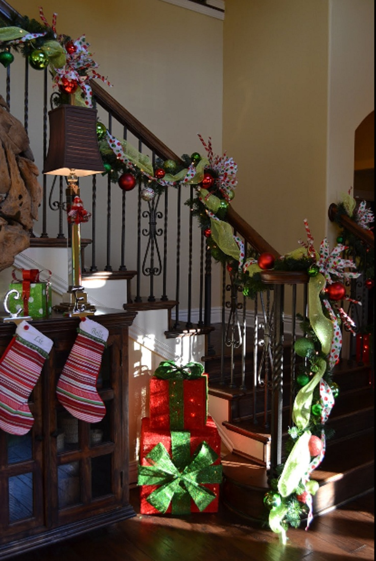 Whimsical Christmas Christmas Stairways Table Scapes