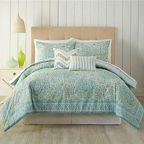 Indigo Bazaar Stamped Indian Floral Comforter Set