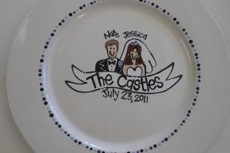 Bachelorette Party idea at The Painted Pig, Little Rock, AR - Have everyone paint a small piece of pottery for the couple's new home. Part of the party fees is a custom signature plate to use at the Rehearsal Dinner or Wedding .
