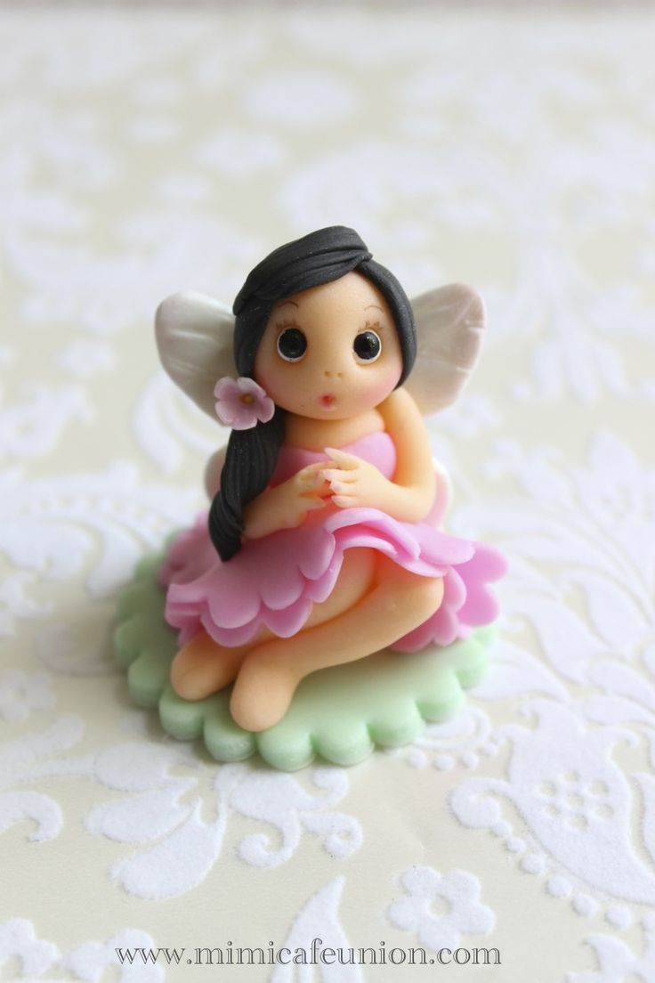 Fondant Fairy Doll Cupcake Toppers By Mimicafe Union