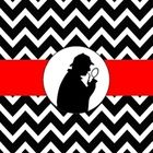 FREE Mystery Theme Chevron Binder Cover from www.Mrs-Robbins.com