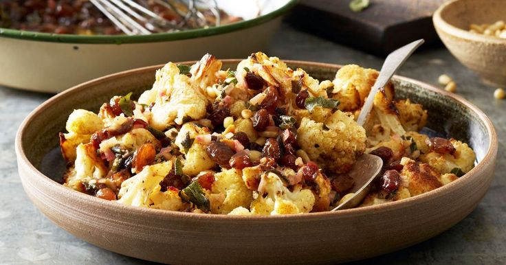 Feed your family Curtis Stone's roasted cauliflower with brown butter-sage vinaigrette.