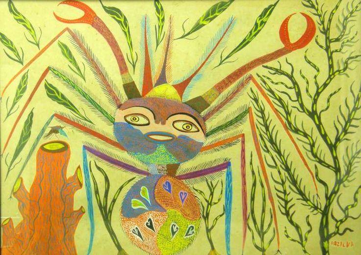 Francisco da Silva (Chico da Silva) Sem título, s.d. Guache sobre Papel 77 x 105 cm