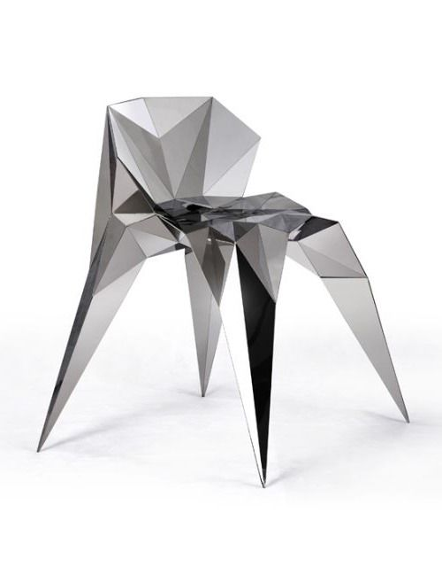 Zhang Zhoujie – Triangulation Variant Chair: Chairs Chairs, Modern Chairs, Cha Chairs, Triangular Chairs, Parametric, Faceted Design, Furniture Design, Interior Optical