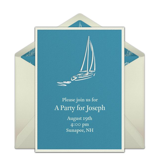 The 25 best online birthday invitations ideas on pinterest free summer sailing invitations stopboris Gallery
