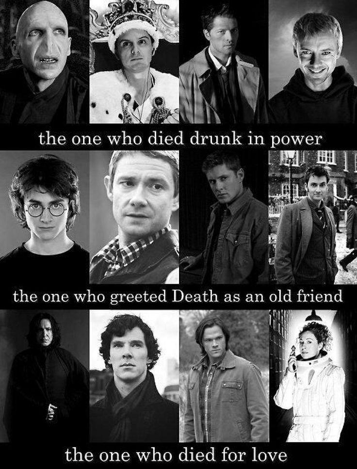 Harry potter, Sherlock, supernatural, dr. Who
