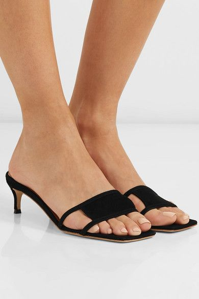 8c836a88ee6 BY FAR - Virgo cutout suede mules in 2019 | Sexy shoes | Stylish ...