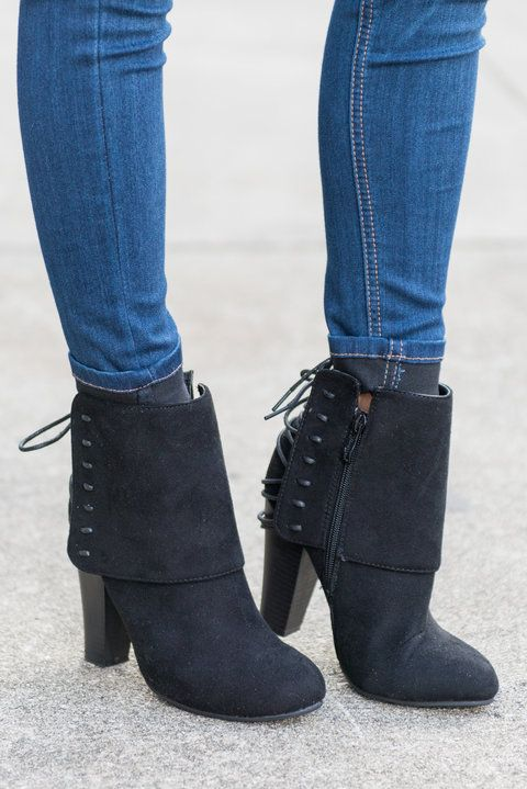 Sass In A Flash Booties, Black - The Mint Julep Boutique