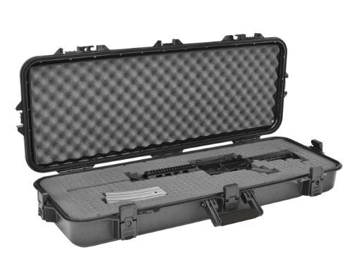 "Plano All Weather Tactical Gun Case, 42-Inch  43""X13""X5"" Interior Dimensions, Exterior specs: 46 x 16 x 5.5 inchesWatertight SealPressure Relief valve  http://outdoorgear.mobi/product/plano-all-weather-tactical-gun-case-42-inch/"