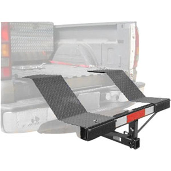 Haul an ATV, garden tractor or other vehicle in your truck with the Ironman TralRack Equipment Rack! Fits into your truck's trailer hitch to extend the bed.