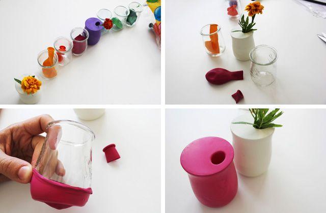 flores2 DIY: convertimos tarros de cristal en floreros de colores