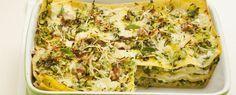 Lasagne con noci, primosale e zucchine | Sale&Pepe (Lasagna with walnuts, primosale cheese and zucchini)