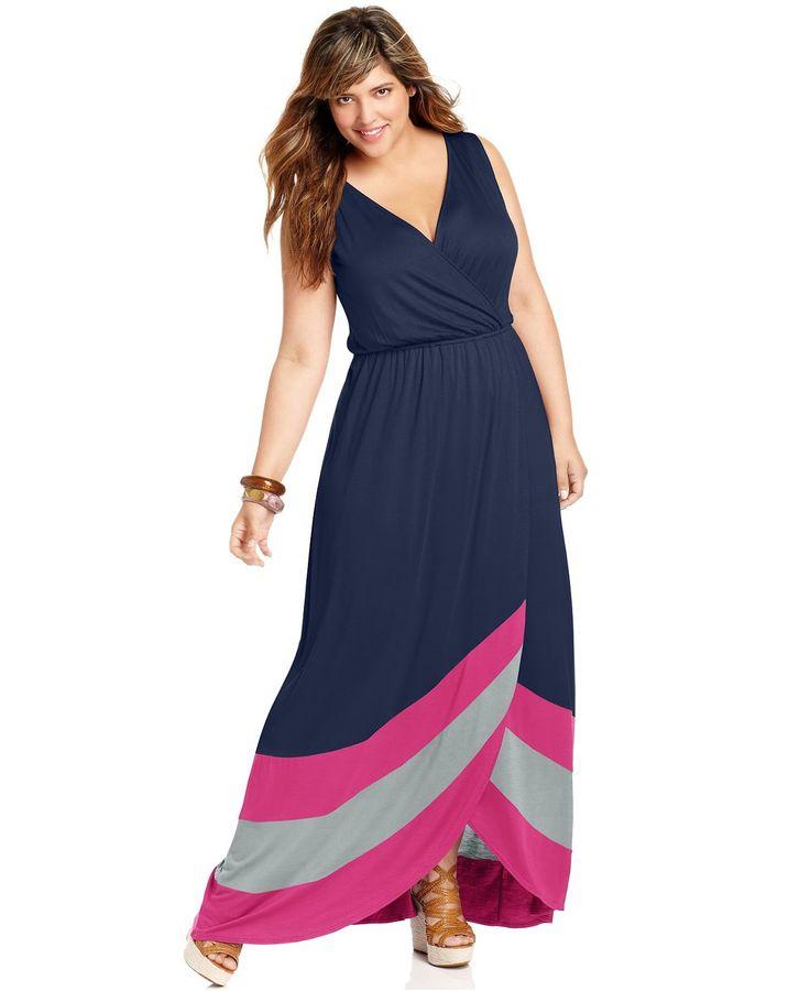 Fantásticos vestidos largos para gorditas   Vestidos para gorditas de temporada