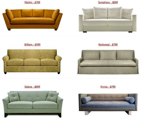 The Look For Less Couches From Custom Sofa Design Couch House And Office