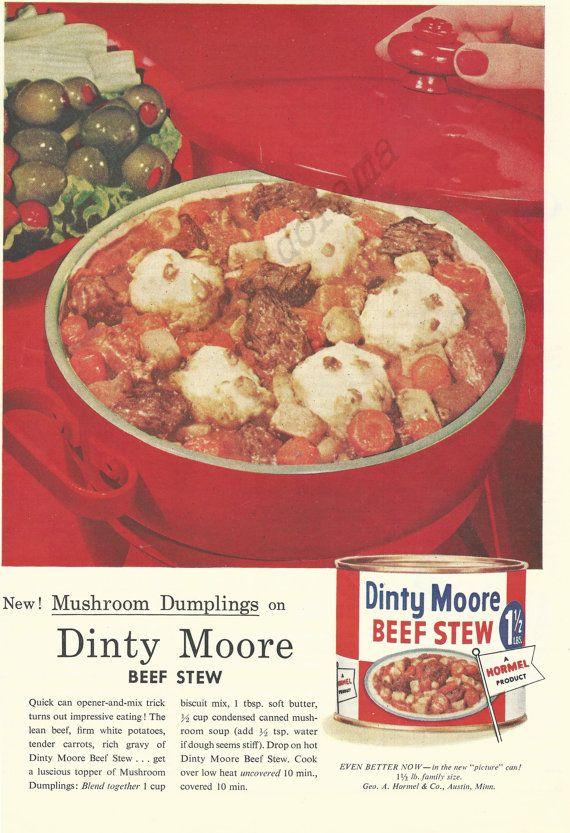 Dinty Moore Beef Stew Original 1957 Vintage by VintageAdarama